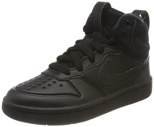 Nike Unisex Kinder Court Borough MID 2 Boot (PS) Sneaker, Schwarz, 34 EU