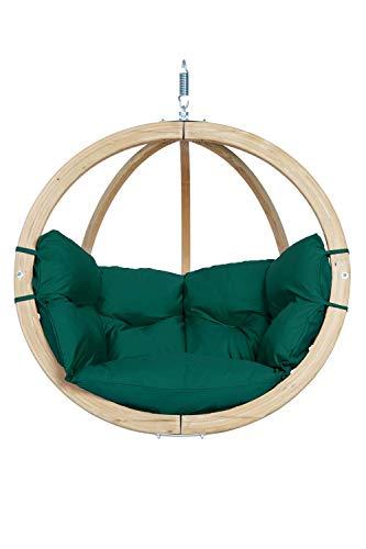 AMAZONAS Hängesessel in edlem Design Globo Chair Verde aus FSC Fichtenholz wetterfest bis 120 kg in Grün