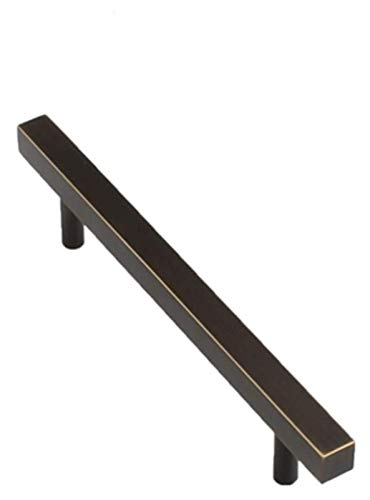 ZJSXIA Gabinete de Oro Manillas Muebles Perillas de latón Macizo Armario de gabinetes de Armario de Cocina, Bronce Negro, 160 mm Tirador Cocina (Color : Single Hole, Size : Copper)