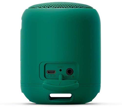 Sony SRS-XB12 Bluetooth Lautsprecher (tragbar, kabellos, Extra Bass, wasserabweisend, Freisprechfunktion für Anrufe) grün