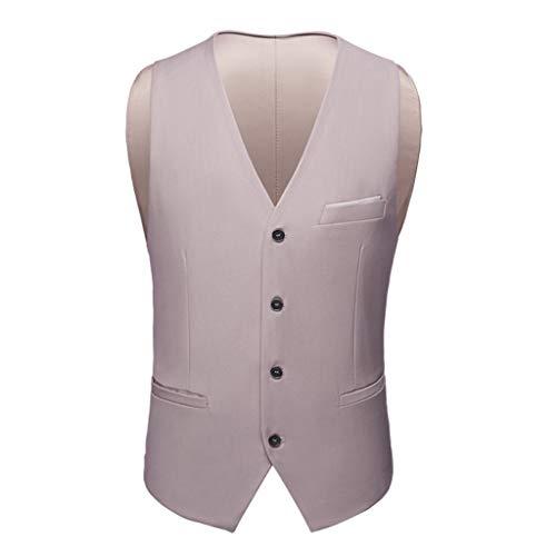 THBEIBEI Chaleco de traje masculino primavera otoño delgado trabajo chaleco chaleco chaleco de billar sección delgada (color: blanco, tamaño: 190)