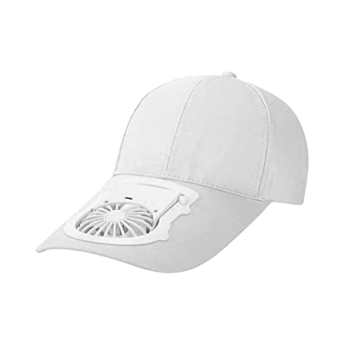 Cappellino per cappello con ricarica USB per ventilatore estivo, cappellino da viaggio con...