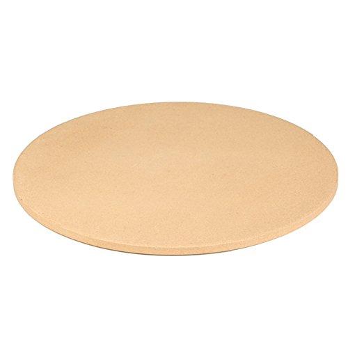 HomDSim Pierre à pizza ronde en cordiérite 36,6 cm pour cuisson et cuisson au four et grill – Pierre à pizza de taille personnelle (36,6 cm)