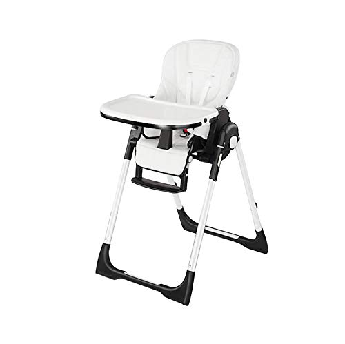 Lowest Prices! Highchairs Adjustable Foldable Baby Highchair Feeding Chair with Safety Belt