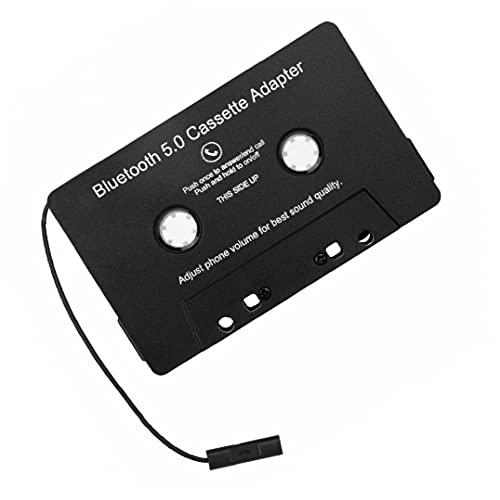 fregthf Cinta Bluetooth Cinta ConverterTape Adaptador Inalámbrico Bluetooth Audio Audio Cassette Adaptador Accesorios para Auto MP3 Convertidor analógico de Audio Digital para automóviles Negro