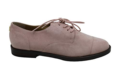 Ralph Lauren Lauren By Womens Maryna Suede Closed Toe Oxfords, Pink 3, Size 5.5