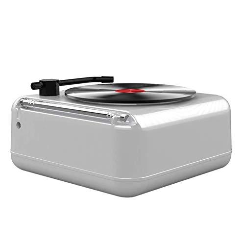 PHLPS Plattenspieler Record Player Portable, Bluetooth-Lautsprecher, Vinyl-Aufzeichnungsplayer mit eingebautem, klassischem Vinyl-Player-Plattenspieler, Plattenspieler mit Lautsprecher