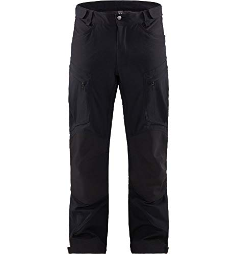 Haglöfs Wanderhose Herren Wanderhose Rugged Mountain Pant Men wasserabweisend, windabweisend, Stretch Small True Black Solid L L