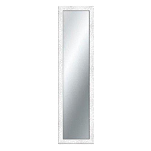 specchio da parete h 180 Lupia Specchiera da Parete con Cornice in Legno Shabby Boston 40x160 cm/White