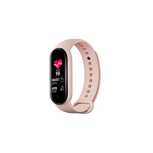 Vigcebit Pulsera inteligente con monitor de sueño, monitor de música, 0,96 pulgadas, color TFT, pantalla táctil, reloj de salud, podómetro