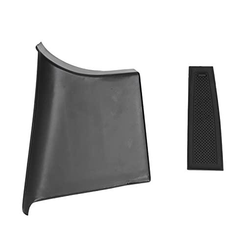 Qiilu - Caja de almacenamiento para reposabrazos de puerta delantera, organizador de ABS, mango de agarre, accesorio para 3 / Axela 2019-2020 LHD (negro)