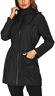 Doreyi Lightweight Raincoat for Women Waterproof Packable...