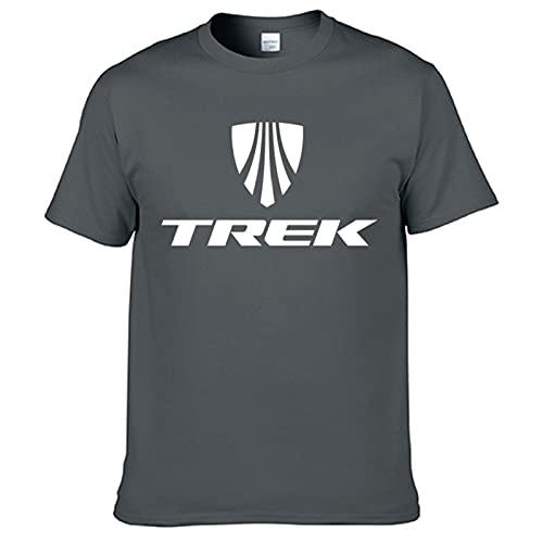 Trek Mountain Bike Print T Shirt Men New Summer 100% Cotton T-Shirt Hip Hop Streetwear Harajuku Tops Tee Oversized Tshirt Grey XL