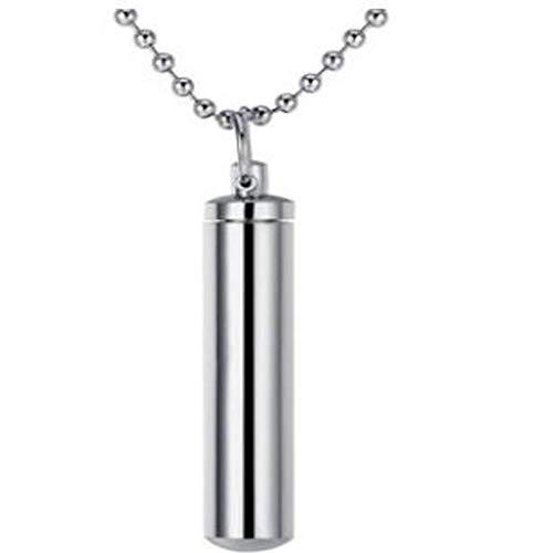 Stijlvolle eenvoud Mode Pop Crematie Sieraden Ash Urn Ketting Memorial Keepsake Flesje Buis Hanger Gift Mannen Vrouwen, MN