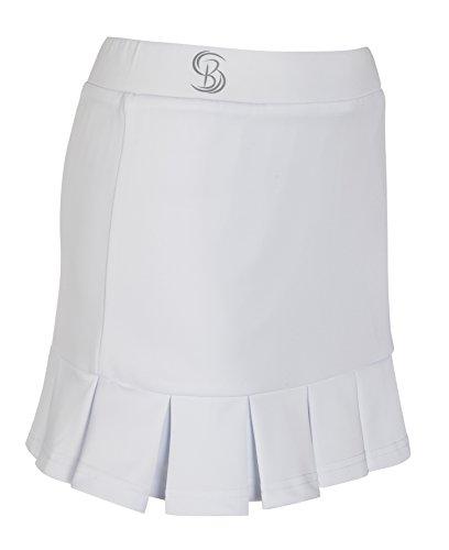 Meisjes Plissé wit Tennis Rok/Skorts