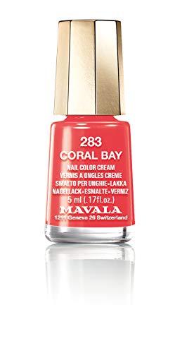 Mavala Mini Colors Pintauñas | Esmalte de Uñas | Laca de Uñas | 47 Colores Diferentes, Color Coral Bay 283 (Coral), 5 ml