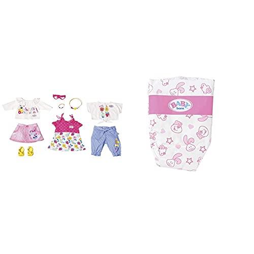 BABY Born Baby BornZapf Creation 828793 Holiday Modeset Frühling Puppenkleidung 43 cm, bunt & 826508 Windeln für 43cm Puppe & Soziale Fähigkeiten, für Kleinkinder ab 3 Jahren - Inklusive 5 Windeln