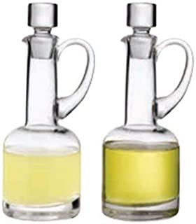 Topkapi Elite Huile et vinaigre en cristal pour verre et huile Rebecca - Fabriqué à la main - Hauteur : 21 cm