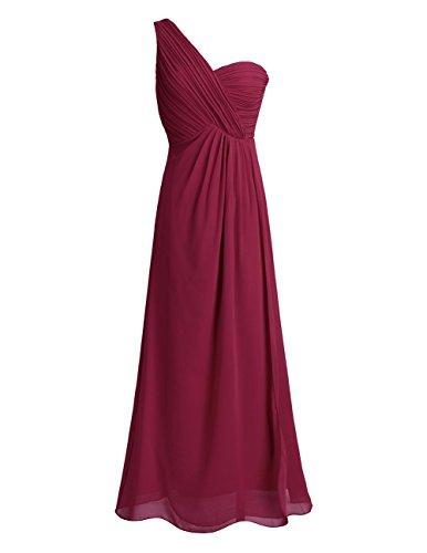 Freebily Vestido Largo de Gasa para Mujer Dama de Honor Vestido de Cóctel Fiesta Ceremonia Noche Vino 36