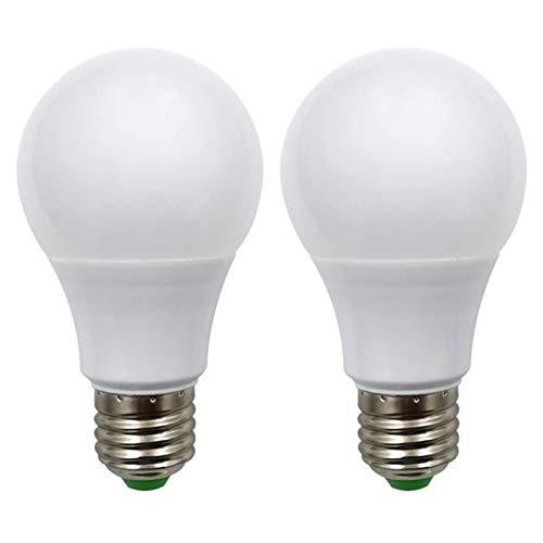 Lampadina a LED E27 12V AC/DC 5W A60 50W Lampadine Alogene a Bassa Tensione Edison Screw Incandescenza Bianco Caldo per Off Grid Illuminazione Solare RV Barca Illuminazione Interna, Confezione da 2