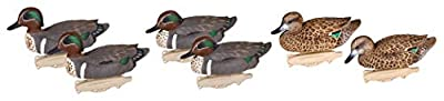 Flambeau Outdoors 8015SUV Storm Front 2 Green-Winged Teal Decoys, Classic Floaters - 6-Pack (5001163)