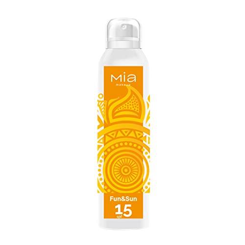 MIA Makeup Fun & Sun Spray Protección solar SPF15 para un bronceado perfecto,150 ml