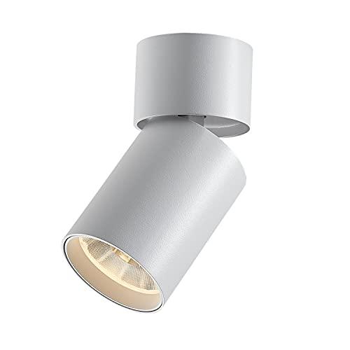 LED Foco de techo Lámpara de pared LED orientable 15W 3000K Ajustable y Giratorio lamparas de techo para Interiores Blanco