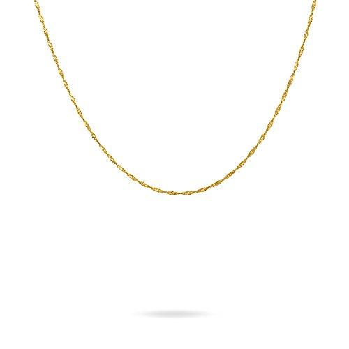 Stroili - Collana catena in oro giallo a maglia Singapore per Donna