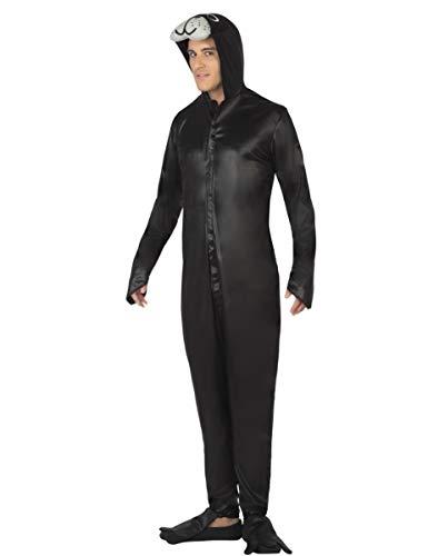 Atosa-26451 Disfraz Foca, color negro, M-L (26451)
