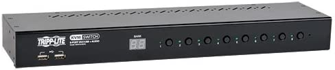 TRIPP LITE 8-Port Rackmount DVI USB KVM Switch with Audio 2-Port 1URM USB Hub (B043-DUA8-SL)