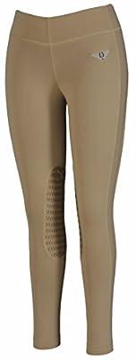 TuffRider Women's Ventilated Schooling Tights, Safari/Safari, Medium from JPC Equestrian - Sporting Goods