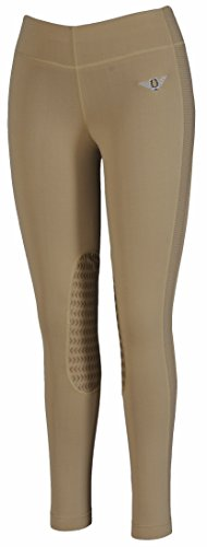 TuffRider Women's Ventilated Schooling Tights, Safari/Safari, X-Large