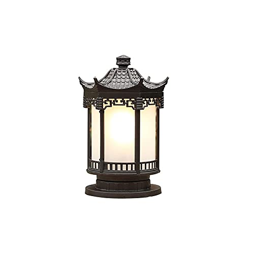 ZZYJYALG Solar Posts Cap Lights, Waterproof Outdoor Post Cap Light for Fence Deck or Patio Garden,Fit 4x4,6x6 Wooden Post with Aluminum PC,Brown
