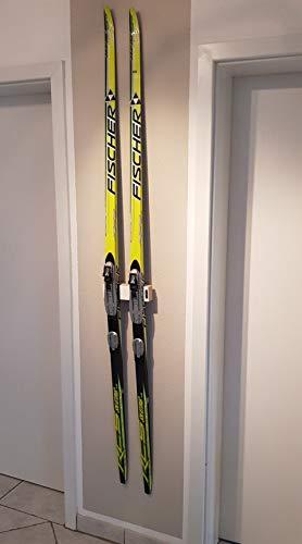 Clipboart ® Langlaufski Skating Ski Wandhalterung Wandhalter Halterung Wandmontage Wandfixierung horizontal vertikal diagonal Holz Clipboard