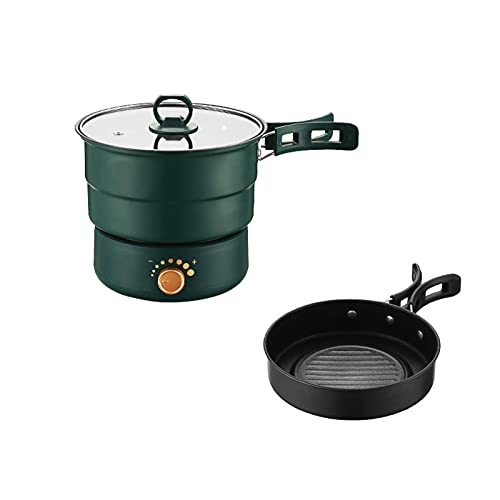 N\B Split Slow Cooker, Multi Hot Pot Frying Pan,Folding Electric Cooker,Multi-Function Cooking,Multi-Speed Firepower Adjustment,Folding Handle for Easy Storage