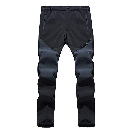 LHHMZ Pantalones de Senderismo de Lana para Hombre Pantalones Casuales de Invierno para Deportes al Aire Libre Pantalones de esquí