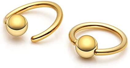 AllerPierce 40Pcs 20G Nose Rings for Women Men Nose Ring Hoop Bone Screw L Shaped Nose Studs Stainless Steel Nose Piercing Jewelry Set