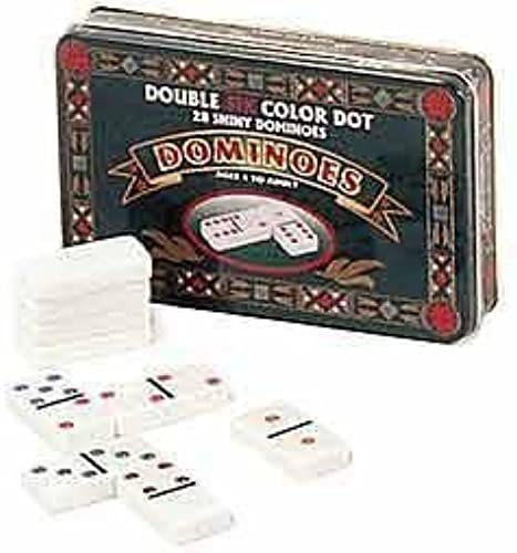 Double 6 Dominoes in Tin Action Game, One Couleur by John Hansen