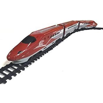JUGTE Metro Train with Flyover & Track Plastic Signal Accessories Medium Multicolor High Speed Bullet Train Toy