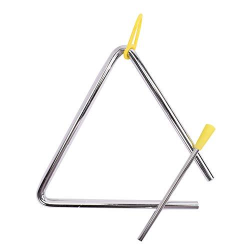TRIXES Triangel - Stahl-Schlaginstrument mit Klöppel - für Schulkinder und Anfänger beim Musizieren
