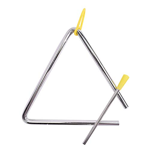 TRIXES Triangle Musical à Percussion en Acier avec Batteur pour Enfants