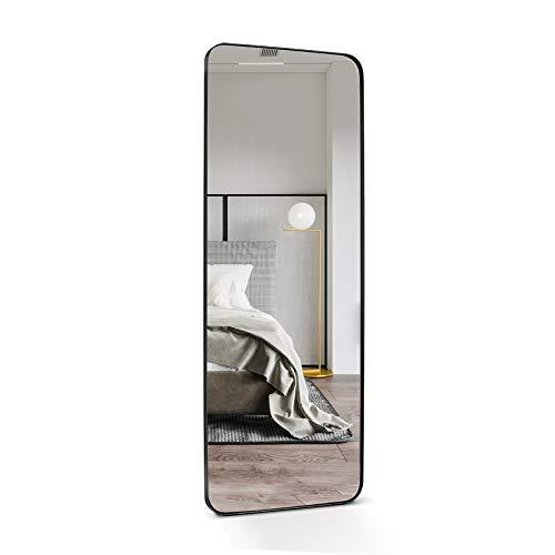 ANDY STAR Full Length Mirror, 18' x 48' Black Metal Frame Full Length Wall Mounted Mirror for Bedroom, Living Room Hangs Horizontal Or Vertical