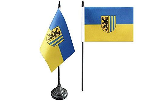 Flaggenfritze® Tischflagge Deutschland Stadt Leipzig - 10 x 15 cm