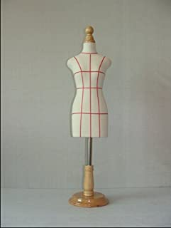 wooden manikin sewing or jewellery mannequin profissional,1:2 scale Jersey,bust with button wooden,Mini size