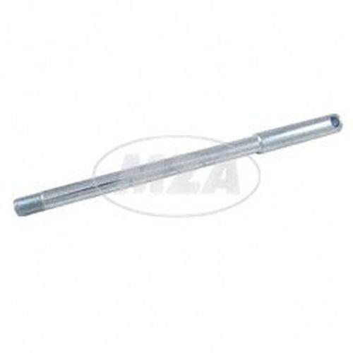 Steckachse vordere - verzinkt - Länge 236 mm (164 mm / 72 mm) - Feingewinde M12x1,25 - SR50, SR80 mit Scheibenbremse