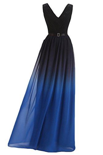 Victory Bridal damen 2015 Neu Traumhaft Ein-traeger Festkleid Lang Damen Abendkleider Ballkleider Partykleider -36 Dunkelblau-4