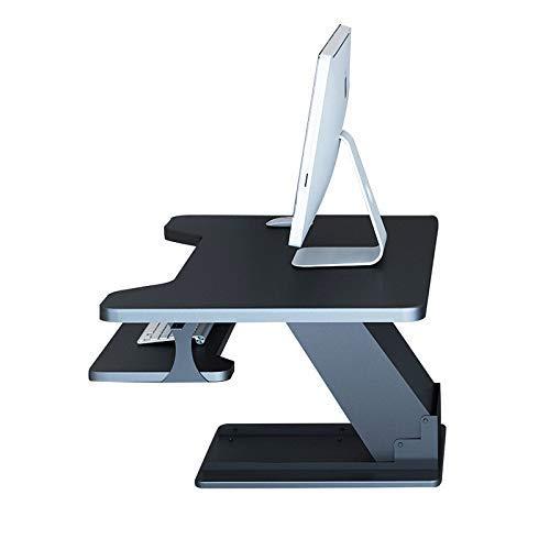 DPPD Stand-Up Office Computer Schreibtisch Klapptisch kann angehoben und abgesenkt Werden. Notebook Stand Work Station Stehend mit Schreibtisch Stepless schwebender pneumatischer Tisch + Tastatur