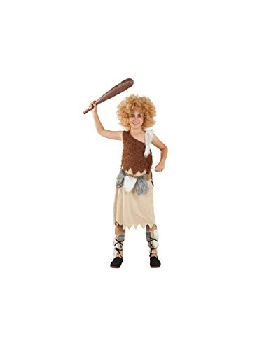 DISBACANAL Disfraz de Troglodita para niña - -, 10 años