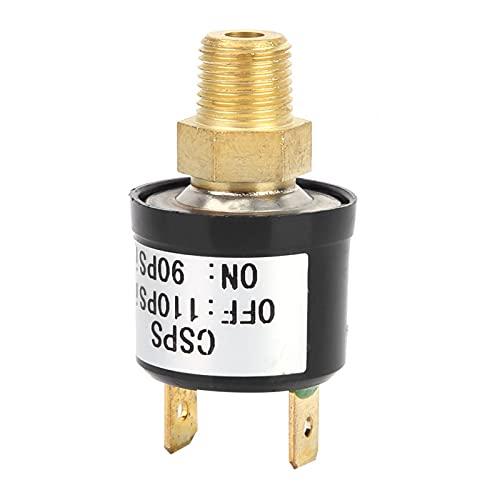 LANTRO JS - Interruptor de control de presión 90-110 PSI Válvula de interruptor de control de presión del compresor de aire Interruptor de presión de aire de servicio pesado