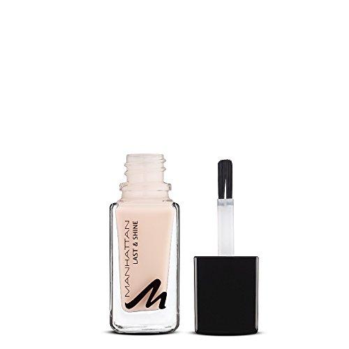 Manhattan Last & Shine Nagellack, Nudefarbener, glänzender Nail Polish für 10 Tage idealen Halt, Farbe Sweet Creams 200, 1 x 10ml